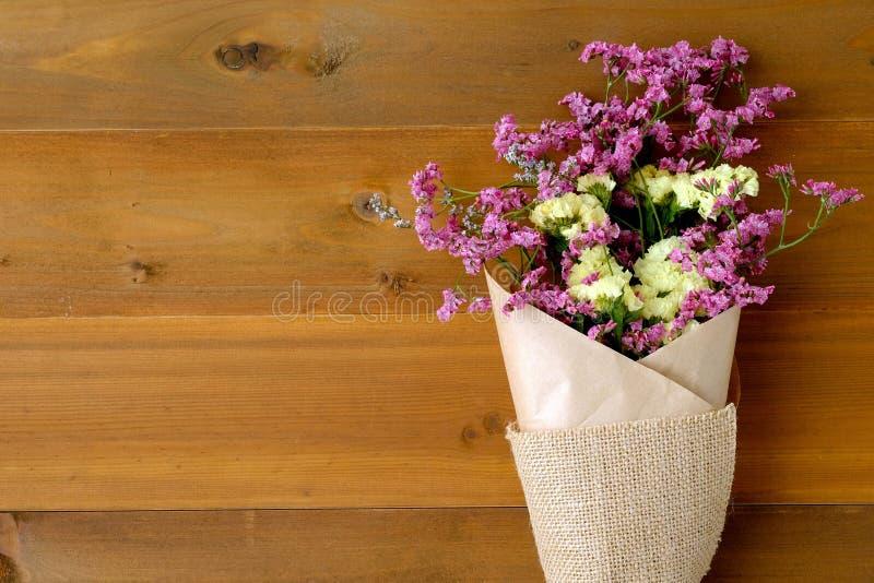 Download Wild Flower Bouquet On Vintgae Wood Background Stock Image - Image: 83724913