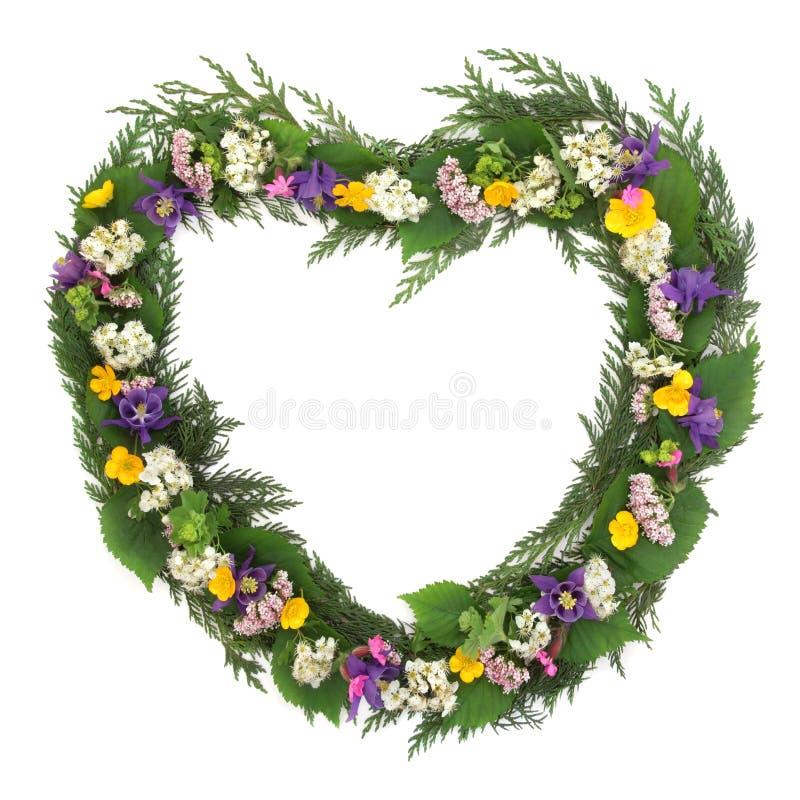 Wild Flower Wreath stock photo
