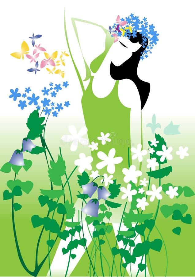 Wild flowers royalty free illustration