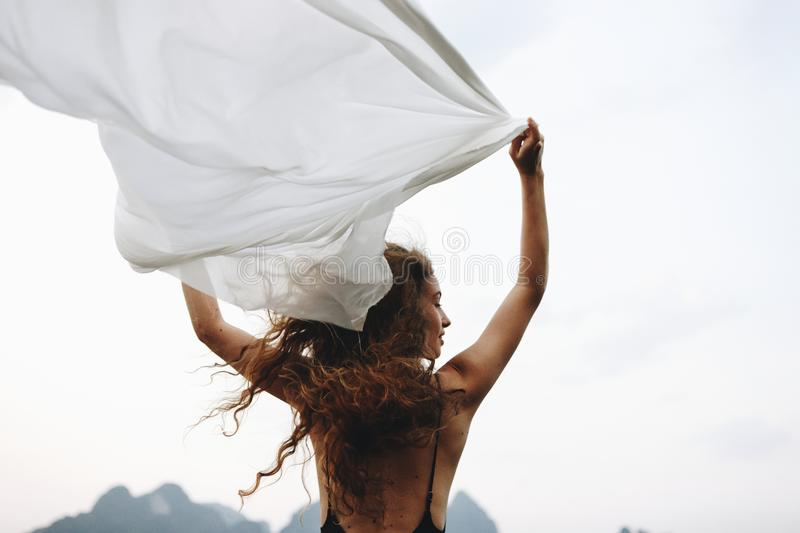 Wild and free like the wind stock photo
