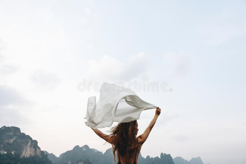 Wild and free like the wind stock images