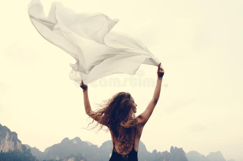 Wild and free like the wind royalty free stock image