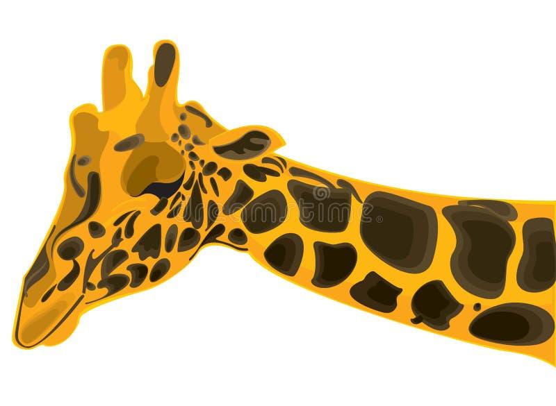 Download Wild giraffe stock vector. Image of nose, background - 10045157