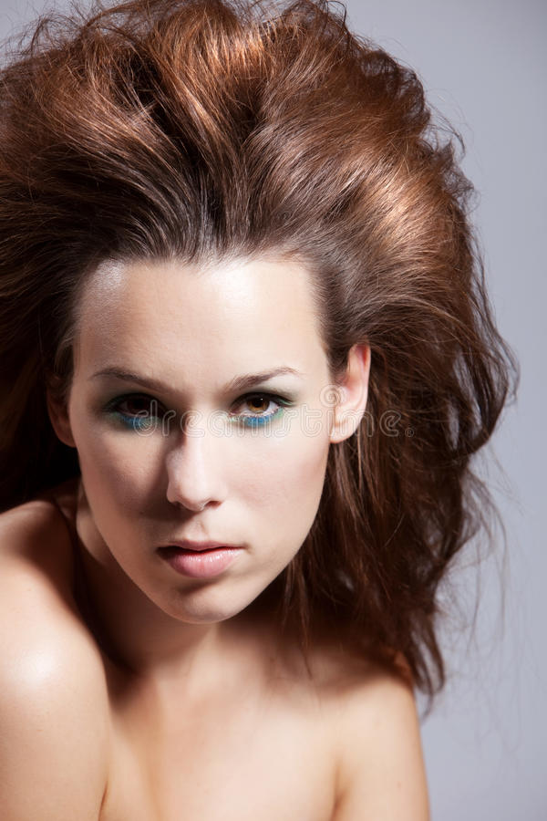 Download Wild girl stock image. Image of female, hairstyle, beautiful - 10463859