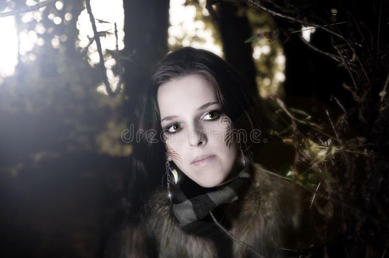 Download Wild girl stock image. Image of haggard, savage, rude - 18239187