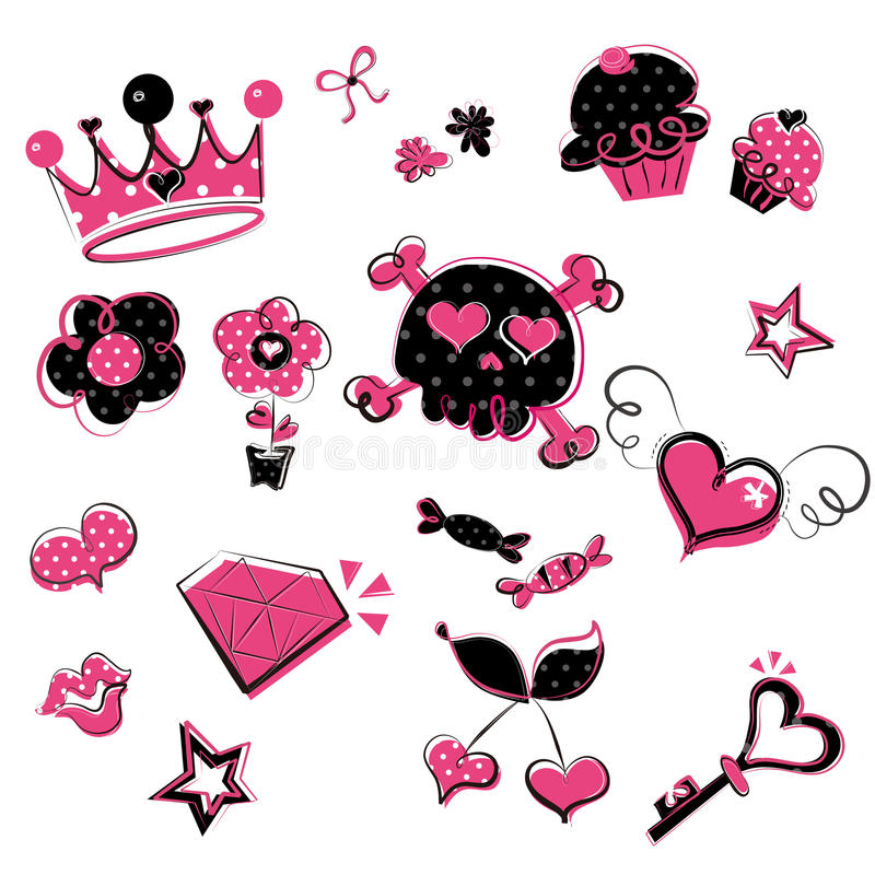 Download Wild, Girlish Doodles stock vector. Image of cupcake - 23833692