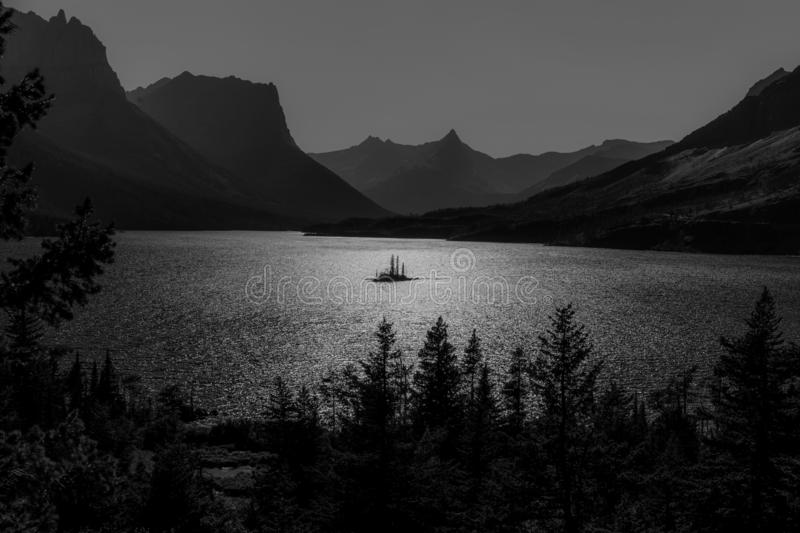 Wild Goose Lake Glacier National Park royalty free stock photos