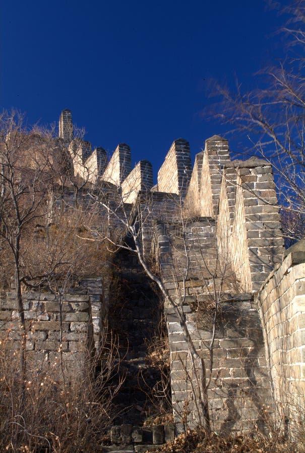 Wild Great Wall of China stock photo