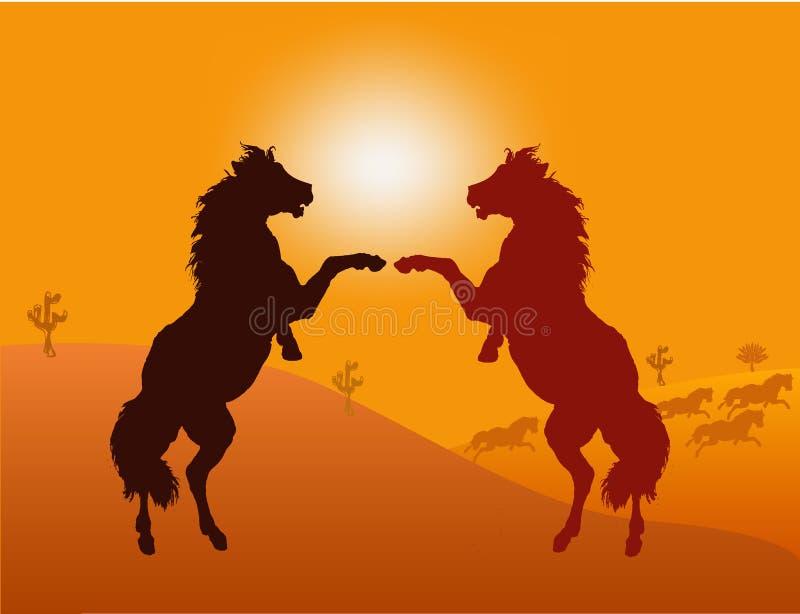 wild hästvektor vektor illustrationer