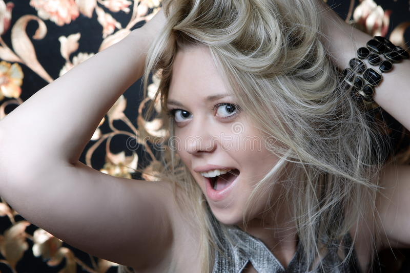 Download Wild hair stock image. Image of smile, fashion, beauty - 23543235