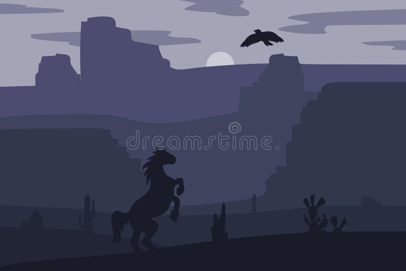 Wild het westenlandschap stock illustratie