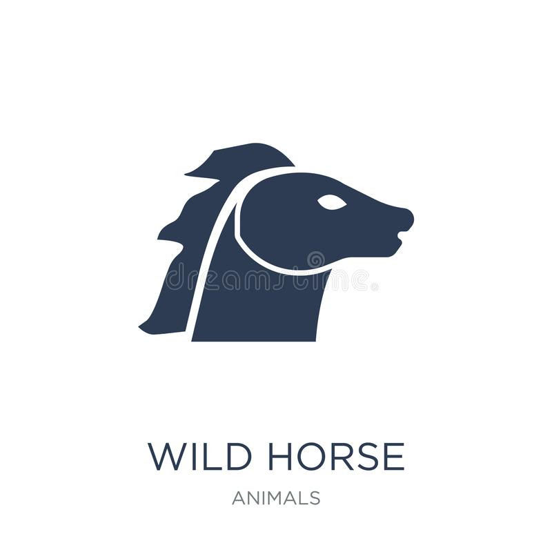 Wild horse icon. Trendy flat vector Wild horse icon on white background from animals collection royalty free illustration