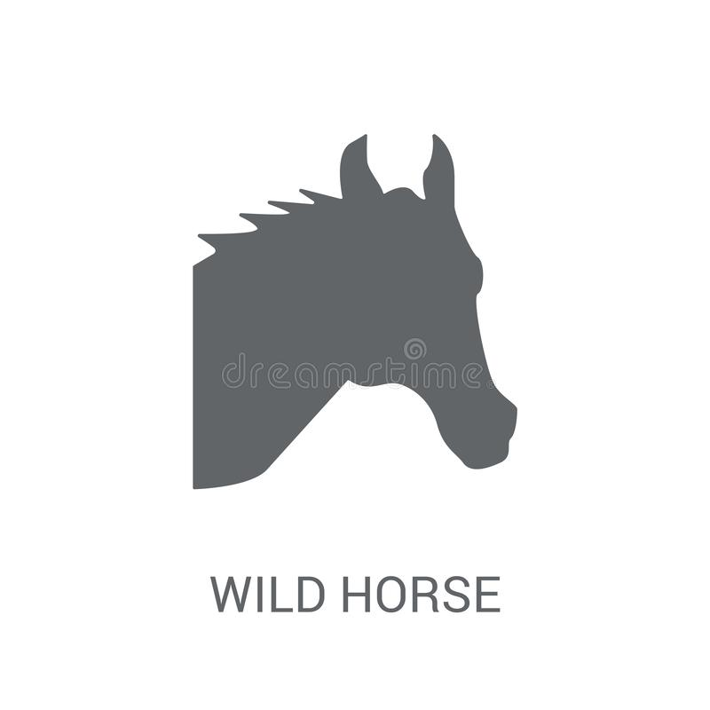Wild horse icon. Trendy Wild horse logo concept on white background from animals collection. Suitable for use on web apps, mobile apps and print media vector illustration