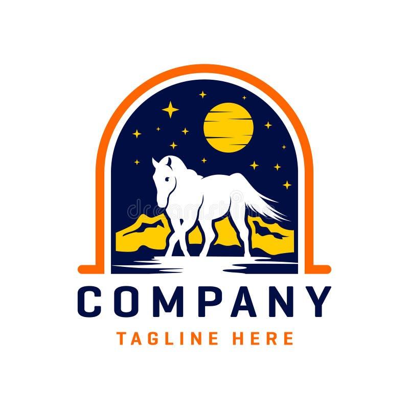 Wild horse logo design template. Wild horse logo design your company royalty free illustration