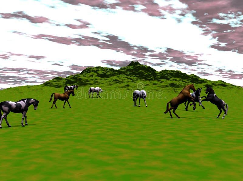 Wild Horses royalty free illustration