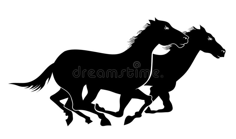 Download Wild horses stock vector. Illustration of pace, animal - 22733132