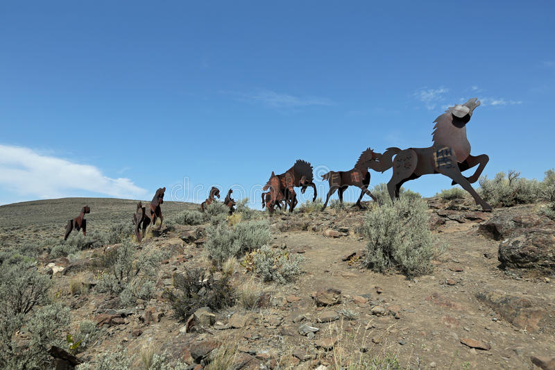 Download Wild Horses Monument stock image. Image of grant, nature - 26151311