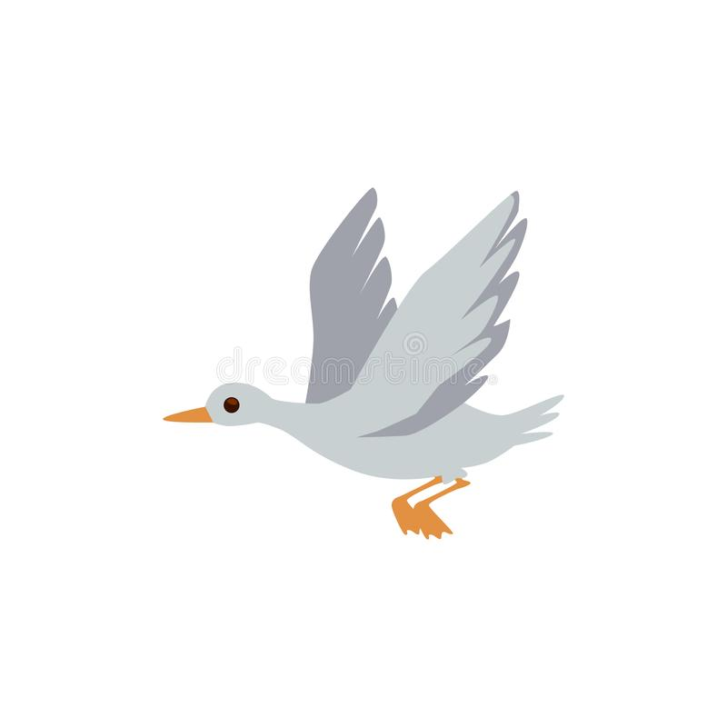 Wild for hunting or home farm waterfowl grey goose or duck. vector illustration