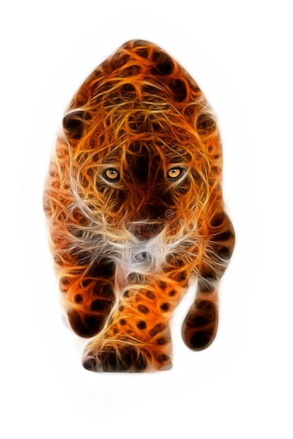 Wild Jaguar Attack Illustration Stock Photo - Image of male, feline ...
