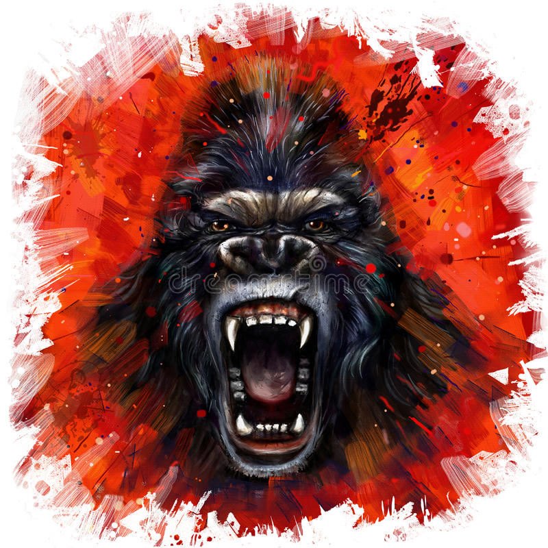 Wild king kong bate stock illustration