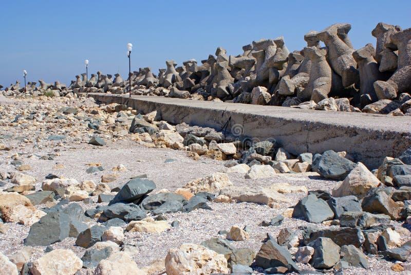 Wild landscape on beach royalty free stock photo