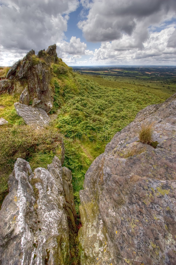 Wild landscape HDR 3 stock photography