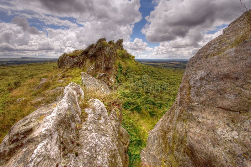 Wild landschap HDR 2 royalty-vrije stock foto