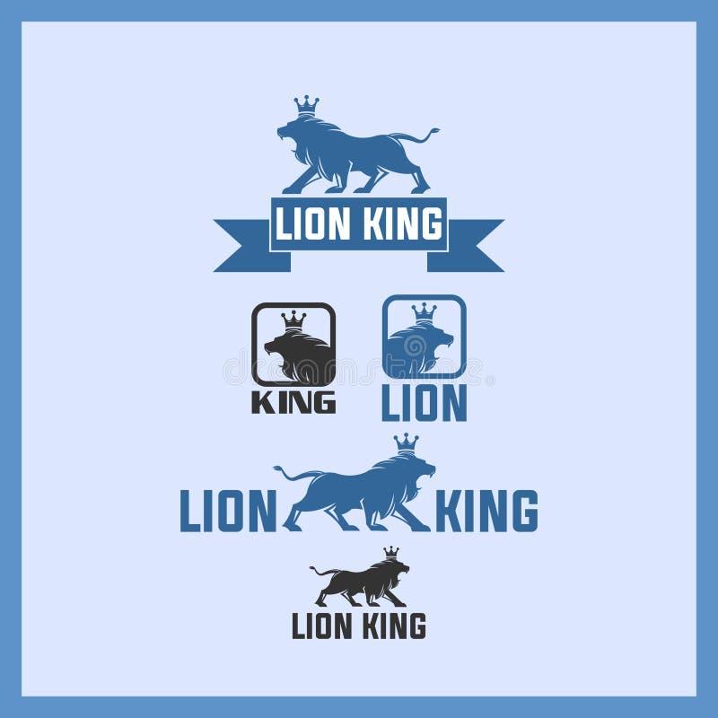 Strong lion king logo, unik lion icon stock photography