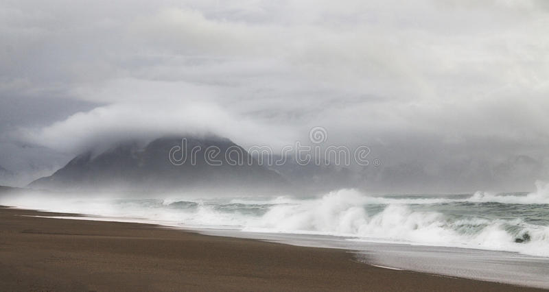 Download Wild Lonely Beach stock photo. Image of photography, haast - 56957554