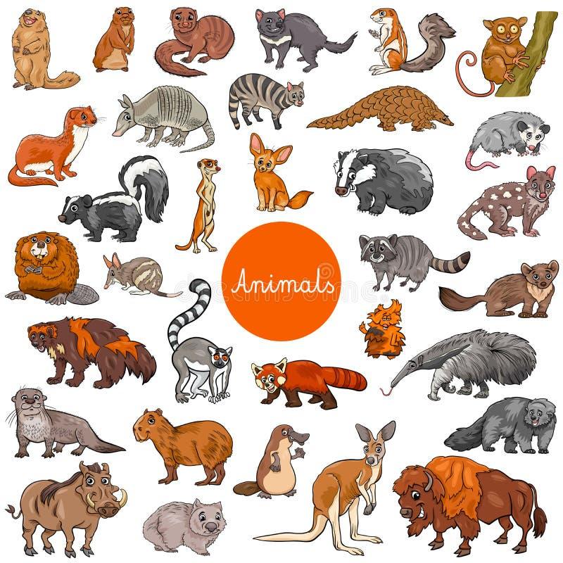 Free Wild Mammals Animal Characters Big Set Royalty Free Stock Photography - 112129787
