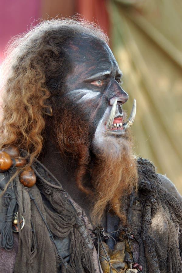 Wild Man King royalty free stock image