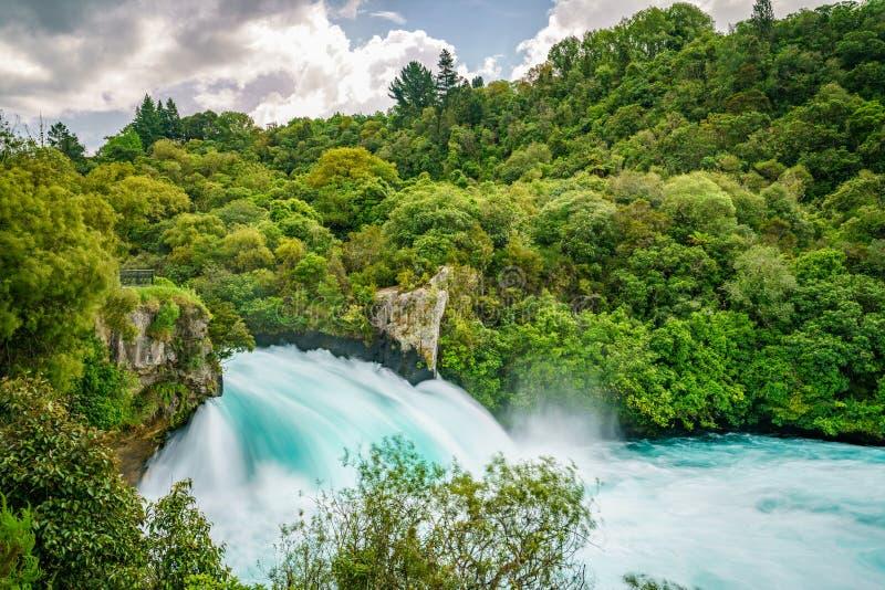 Wild mighty waterfalls,huka falls,new zealand 5. Long exposure of wild mighty waterfalls,huka falls,new zealand royalty free stock images