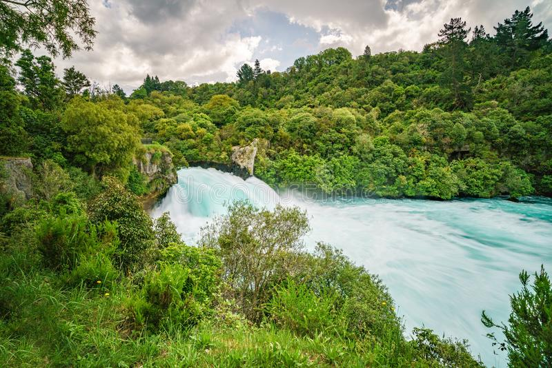 Wild mighty waterfalls,huka falls,new zealand 6. Long exposure of wild mighty waterfalls,huka falls,new zealand stock images