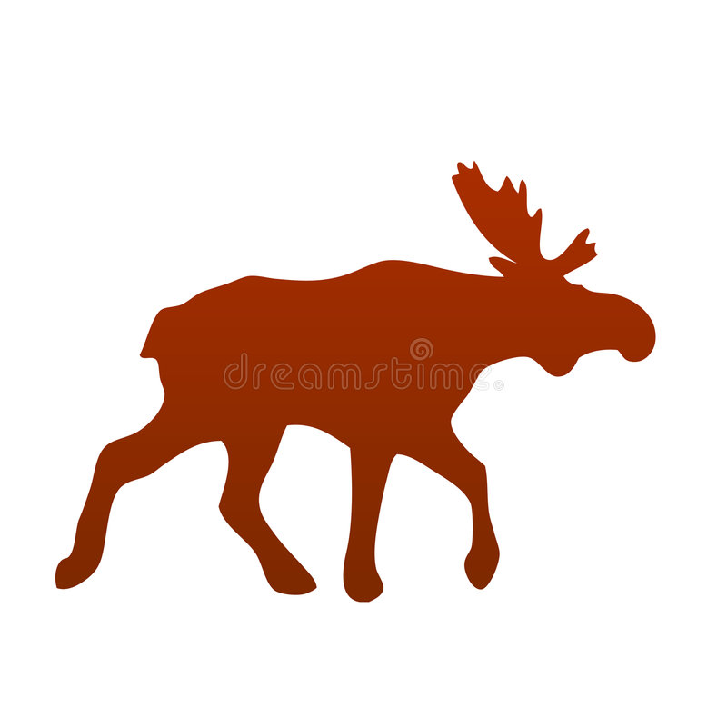 Download Wild moose silhouette stock vector. Illustration of norway - 7692842