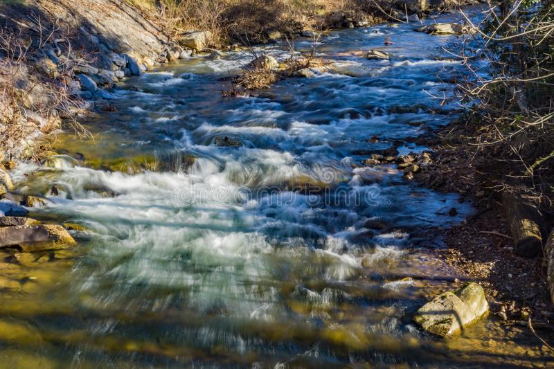 Wild Mountain Trout Stream in Giles County, Virginia, USA. Wild mountain trout stream located in the forest of the Jefferson National Forest, Giles County royalty free stock photo