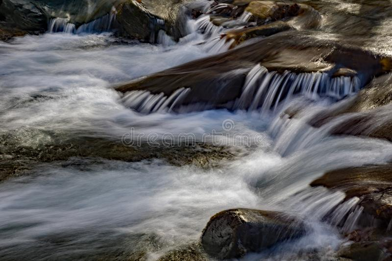 Wild Mountain Trout Stream. Located in the Rock Castle Gorge located in the Blue Ridge Mountains in Floyd County, Virginia, USA stock images