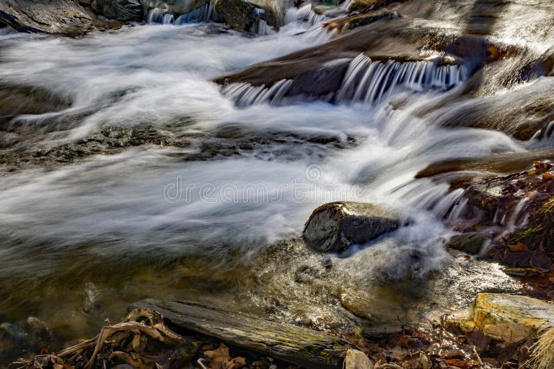 Wild Mountain Trout Stream. Located in the Rock Castle Gorge located in the Blue Ridge Mountains in Floyd County, Virginia, USA stock photography