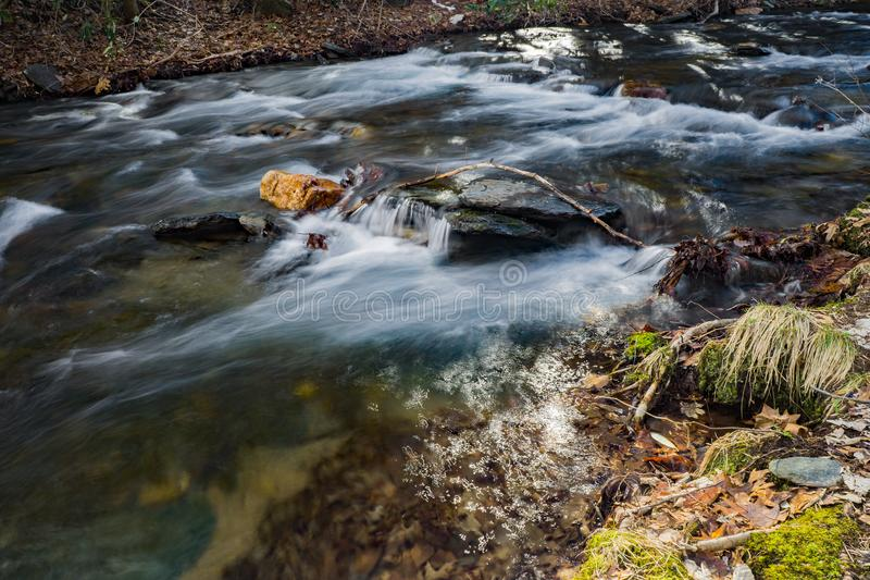 Wild Mountain Trout Stream - 2. Wild mountain trout stream located in the Rock Castle Gorge located in the Blue Ridge Mountains in Floyd County, Virginia, USA royalty free stock photography