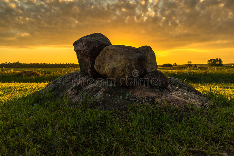 In the wild old stones royalty free stock photography