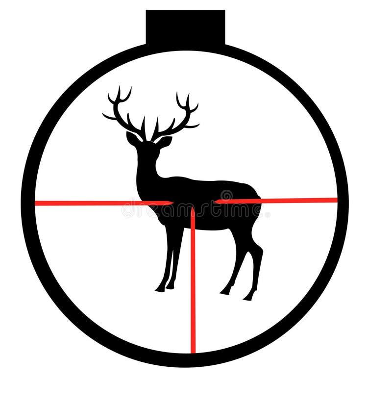 wild optisk sight för hjortar vektor illustrationer
