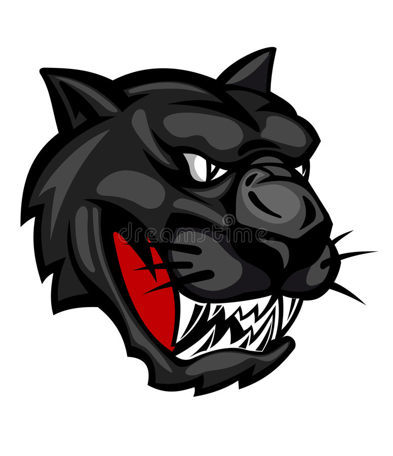 Wild panther vector illustration