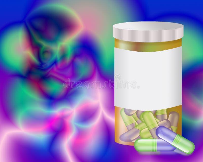 Wild Pills. Computer generated image stock illustration