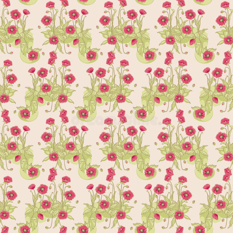 Download Wild poppy pattern stock illustration. Image of flower - 28081412