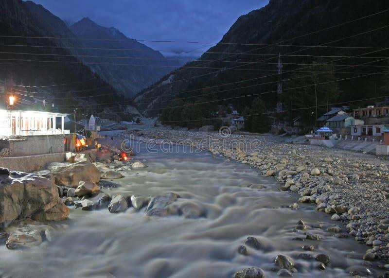 Wild Raging River Ganga Hindu Gangotri India royalty free stock photos