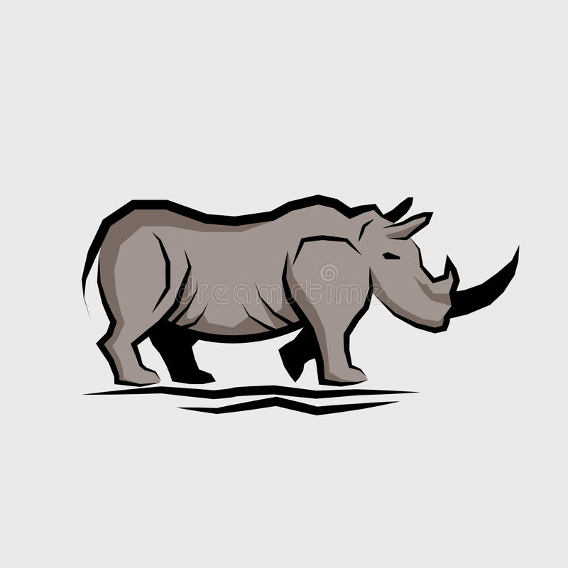 Download Wild Rhino Vector stock vector. Image of freedom, symbol - 31707031