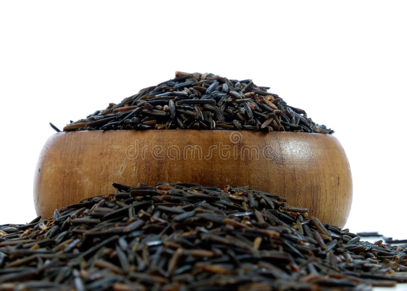 Download Wild rice stock image. Image of fiber, grain, brown, isolated - 7161359