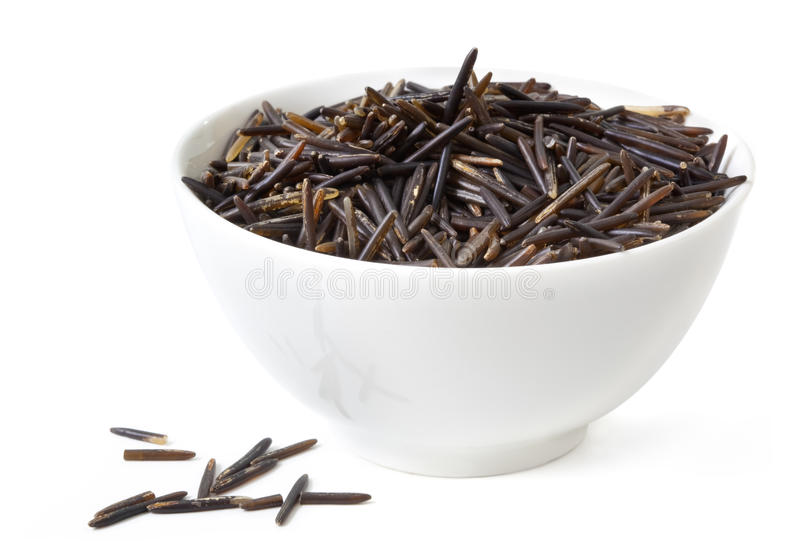 Download Wild Rice stock image. Image of bowl, white, background - 9616397