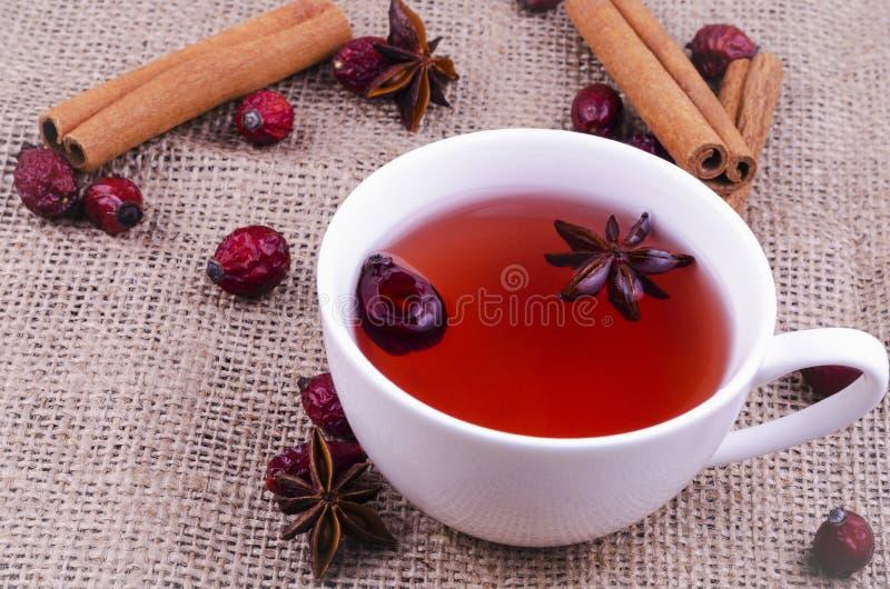 Wild rosehip tea with aniseed.  stock photos
