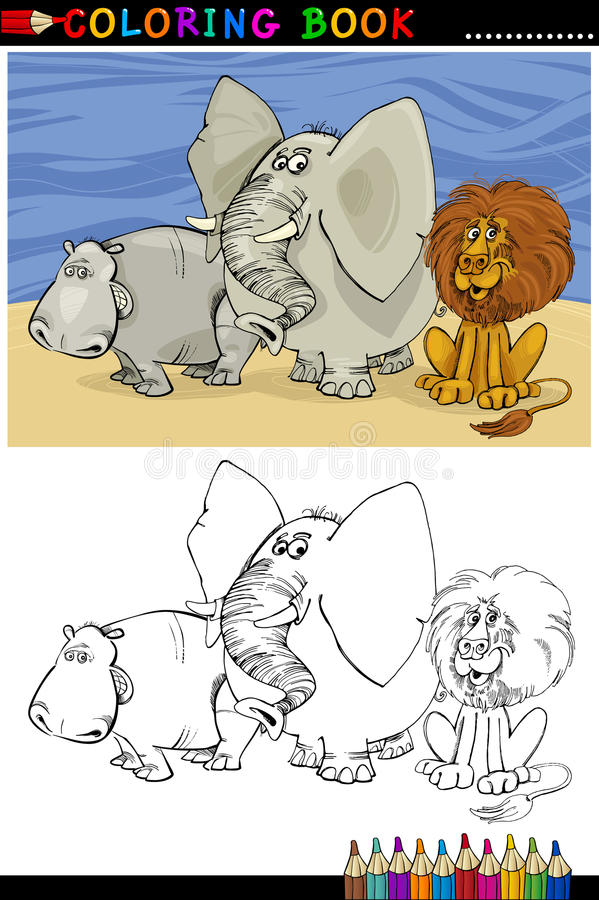 Download Wild Safari Animals For Coloring Stock Vector - Image: 26476780