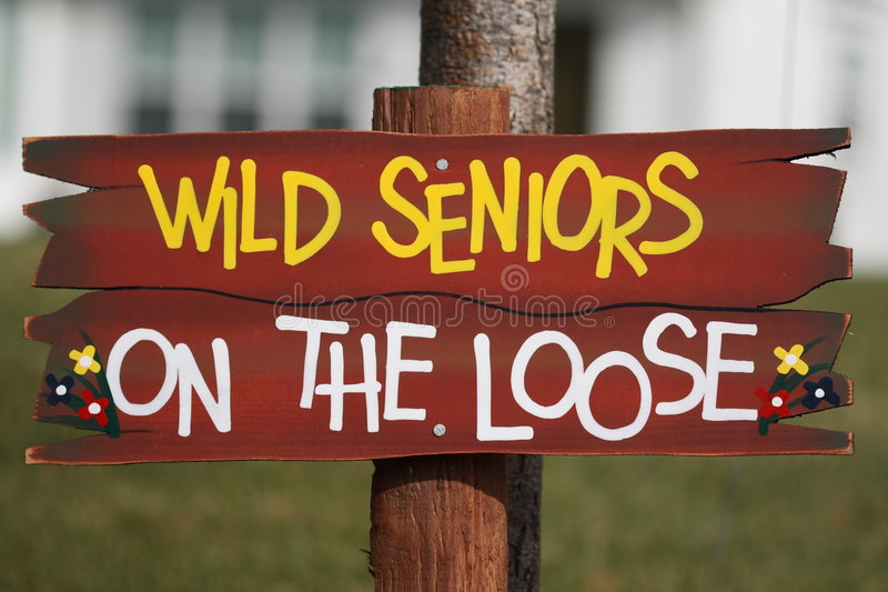 Wild Seniors on the Loose stock image